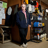 Ron Lockhart, owner of the Lockhart Breakfast and Deli Mart in South Montrose, PA, USA poses for the photographer, 25 March 2011. Lockhart says his business has benefited extensively from the local boom in natural gas extraction. Some residents accuse the technology employed, fracking, of being environmentally harmful.