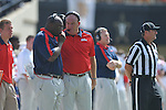 Ole Miss assistant coaches Tyrone Nix (left) and Keith Burns in Nashville, Tenn. on Saturday, September 17, 2011. Vanderbilt won 30-7..