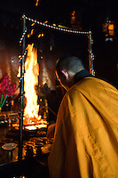 Fire ceremony at Ekoin in Koya-san. There are temples and shrines that have accommodation facilities called shukubo in Japan that attract attention not only as places to stay, but as places that let you experience Japanese culture.  Koya-san is one of the best places to experience a temple stay in Japan.  Ekoin is one of the most popular temples for this for foreign visitors.  One reason is that most of the young monks speak English, and Ekoin is well accustomed to foreign visitors.  Also Ekoin has morning prayer services and fire burning ceremonies that visitors can observe.