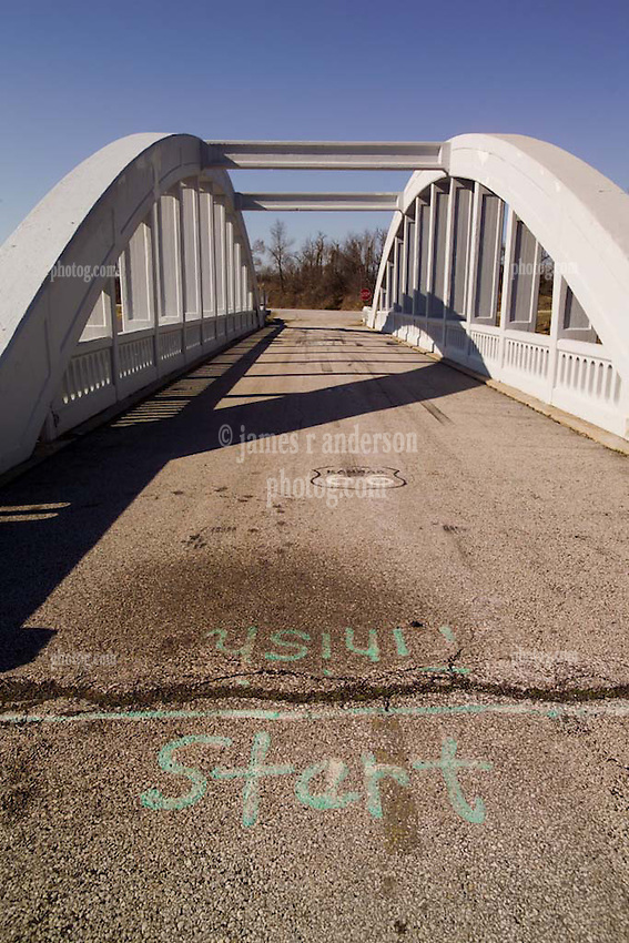 Bush Creek Marsh Arch Rainbow Bridge on Old Route 66 Riverton, KS
