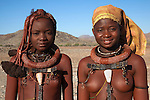 Young Himba women, Kunene region, Namibia, May 2013