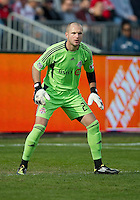 23 April 2011: Toronto FC goalkeeper Stefan Frei #24 in action during a game between the Columbus Crew and the Toronto FC at BMO Field in Toronto, Ontario Canada..The game ended in a 1-1 draw.