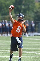 Virginia quarterback Marc Verica during open spring practice for the Virginia Cavaliers football team August 7, 2009 at the University of Virginia in Charlottesville, VA. Photo/Andrew Shurtleff