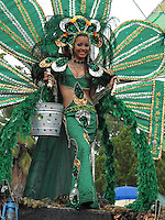 2/15/09---Beauty queen during the carnival in the southern town of Arroyo in Puerto Rico..Photo by Angel Valentin, copyright 2009. NO MODEL RELEASE.