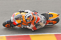 Spain's rider Dani Pedrosa competes in the MotoGP World Championship, Gran Premio d'Italia at Mugello circuit on June 6, 2010.