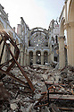 Cathedral in dwont town Port-au-Prince , Haiti destroyed by the 7.0 earthquake that hi on Jaunuary 12, 2010