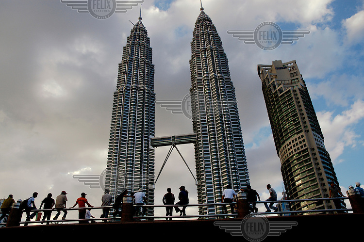 The Petronas Twin Towers.