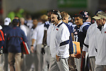 Ole Miss head coach Houston Nutt at Vaught-Hemingway Stadium in Oxford, Miss. on Saturday, October 14, 2011. Alabama won 52-7.