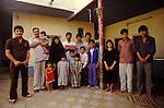 Marsh Arabs. Southern Iraq. Circa 1985. Marsh Arab family living in Baghdad husband wife and fourteen children