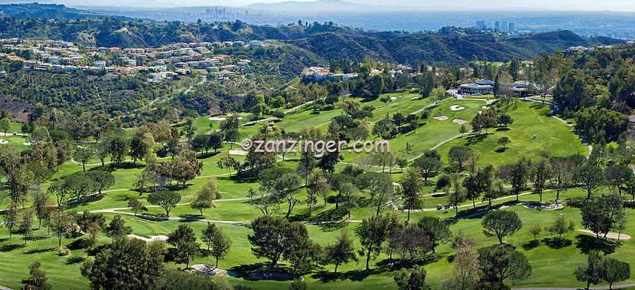 MountainGate, Golf Course, Ted-Robinson, Designer,  picturesque, Helocopter, View, Greens, Fairways, Bunkers, Trees, Santa Monica, Mountains, Los Angeles California,