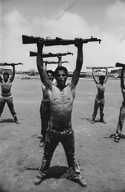 Palestinian fighters training, Lebanon - 1976..