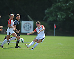 Ole Miss' Erin Emerson (3) vs. Louisiana-Lafayette in college soccer action at the Ole Miss Soccer Stadium in Oxford, Miss. on Sunday, August 26, 2012. Rafaelle Souza delivered her fourth goal of the season in the 12th minute for Ole Miss (4-0).