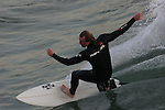 Surfing near Oceanside pier