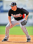 4 March 2011: Atlanta Braves first baseman Freddie Freeman warms up prior to a Spring Training game against the Washington Nationals at Space Coast Stadium in Viera, Florida. The Braves defeated the Nationals 6-4 in Grapefruit League action. Mandatory Credit: Ed Wolfstein Photo