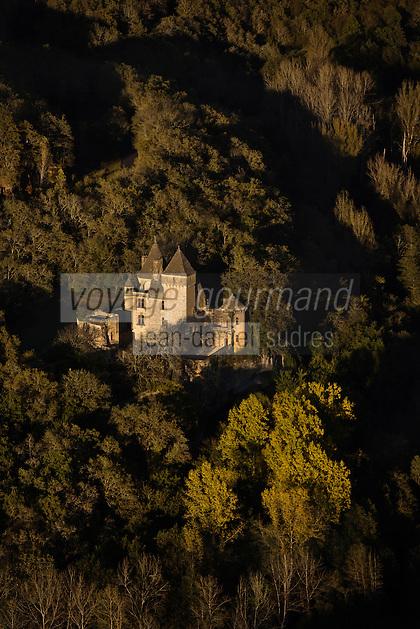 Europe/France/Aquitaine/24/Dordogne/Périgord Noir/Marquay: Château de Laussel - Vue aérienne
