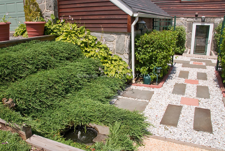 Juniper House Garden Design : Curb appeal with plants and walkway plant flower stock photography