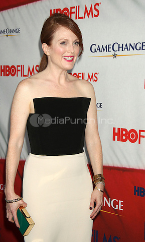 M,arch 07, 2012 Julianne Moore attends the New York premiere of HBO Films Game Change at the Ziegfeld Theater in New York City.Credit:Roger Wong/Mediapunchinc.com