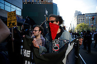 New York, USA. 1st May 2014.  People attend the annual 1 May day rally in New York.  Eduardo MunozAlvarez/VIEWpress