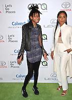 BURBANK, CA. October 22, 2016: Jada Pinkett Smith &amp; Willow Smith at the 26th Annual Environmental Media Awards at Warner Bros. Studios, Burbank.<br /> Picture: Paul Smith/Featureflash/SilverHub 0208 004 5359/ 07711 972644 Editors@silverhubmedia.com