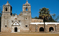 San Antonio:  Mission Concepcion, mid-18th century. Aside from the Alamo, the most northerly of the San Antonio River Missions.