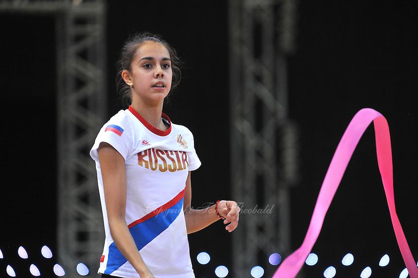"Rita Mamun of Russia trains before 2012 World Cup Kiev, ""Deriugina Cup"" in Kiev, Ukraine on March 15, 2012."