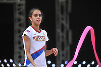 "Rita Mamun of Russia trains before 2012 World Cup Kiev, ""Deriugina Cup"" in Kiev, Ukraine on March 15, 2012."