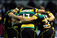 Northampton Saints players celebrate a late try. Aviva Premiership match, between Northampton Saints and Sale Sharks on December 23, 2016 at Franklin's Gardens in Northampton, England. Photo by: Patrick Khachfe / JMP