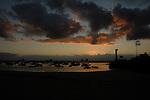 Teresitas beach early morning, San Andreas, Santa Cruz, Tenerife, Canary Islands. Sand originally imported from the Sahara.