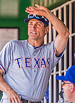 1 June 2014: Texas Rangers bench coach  Tim Bogar in the dugout during a game against the Washington Nationals at Nationals Park in Washington, DC. The Rangers shut out the Nationals 2-0 to salvage the third the third game of their 3-game inter-league series. Mandatory Credit: Ed Wolfstein Photo *** RAW (NEF) Image File Available ***