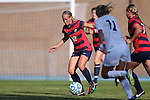 16 November 2013: Liberty's Rebekah Page (12). The University of North Carolina Tar Heels hosted the Liberty University Flames at Fetzer Field in Chapel Hill, NC in a 2013 NCAA Division I Women's Soccer Tournament First Round match. North Carolina won the game 4-0.
