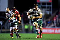 Mike Fitzgerald of Leicester Tigers goes on the attack. European Rugby Champions Cup match, between Leicester Tigers and Munster Rugby on December 20, 2015 at Welford Road in Leicester, England. Photo by: Patrick Khachfe / JMP