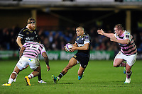 Jonathan Joseph of Bath Rugby in possession. European Rugby Challenge Cup match, between Bath Rugby and Cardiff Blues on December 15, 2016 at the Recreation Ground in Bath, England. Photo by: Patrick Khachfe / Onside Images