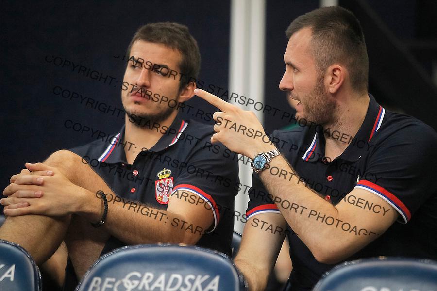 Kosarka Srbija - Francuska prijateljska<br /> Nemanja Bjelica, Milan Macvan<br /> 25.6.1016. JUN 25. 2016. (credit image &amp; photo: Marko Djokovic / STARSPORT)