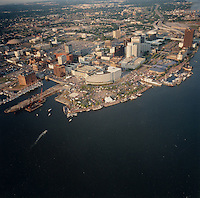 1991 June 9..Redevelopment.Downtown South (R-9)..Harborfest Aerials from helicopter.High angle looking east.Norfolk Waterfront...NEG#.NRHA#.2 1/4 color negs.06/91 REDEV  :DT Sth3:2  :20  :2-F5.