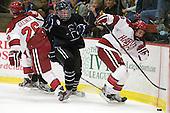 Luke Greiner (Harvard - 26), ?, Conor Morrison (Harvard - 38) - The Harvard University Crimson defeated the visiting Bentley University Falcons 5-0 on Saturday, October 27, 2012, at Bright Hockey Center in Boston, Massachusetts.