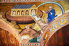 Byzantine mosaics at the Palatine Chapel ( Capella Palatina ) Norman Palace Palermo, Sicily, It. Noah's Arc.