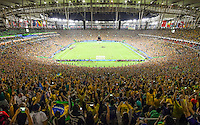 Brazil gets football gold in the Rio's Maracana, the moment Neymar scores Brazil's 5th penalty after Germany missed. Rio2016 Olympics. <br /> Rio de Janeiro, Brazil on 20 August 2016<br /> CAP/CAM<br /> &copy;Andre Camara/Capital Pictures /MediaPunch ***NORTH AND SOUTH AMERICAS ONLY***