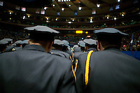 29 December 2005 - New York City, NY - Recruits belonging to the New York Police Department's Class of 2005 attend their graduation ceremony, 29 December 2005, at the Madison Square Garden in New York City. 1,735 recruits were sworn in during the ceremony.