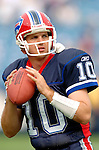 25 September 2005: Kelly Holcomb, backup Quaterback for the Buffalo Bills, takes part in some warm-up drills prior to a game against the Atlanta Falcons. The Falcons defeated the Bills 24-16 at Ralph Wilson Stadium in Orchard Park, NY.<br /><br />Mandatory Photo Credit: Ed Wolfstein.