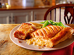 British Food - Cheese lattice pastry & beans meal