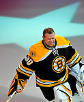 24 January 2009: Boston Bruins goaltender Tim Thomas is introduced prior to the NHL SuperSkills Competition, part of the All-Star Weekend at the Bell Centre in Montreal, Quebec, Canada. ***** Editorial Sales Only ***** Mandatory Photo Credit: Ed Wolfstein Photo