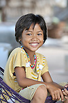 A girl in the Cambodian village of Solang Kandal.