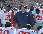 Ole Miss assistant coach Chris Kiffin vs. Arkansas at War Memorial Stadium in Little Rock, Ark. on Saturday, October 27, 2012. Ole Miss won 30-27...