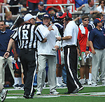 Ole Miss head coach Houston Nutt against Georgia at Vaught-Hemingway Stadium in Oxford, Miss. on Saturday, September 24, 2011. Georgia won 27-13.