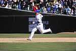 CHICAGO - APRIL  11:  Steve Clevenger #51 of the Chicago Cubs runs the bases against the Milwaukee Brewers on April 11, 2012 at Wrigley Field in Chicago, Illinois.  The Brewers defeated the Cubs 2-1.  (Photo by Ron Vesely)   Subject:  Steve Clevenger
