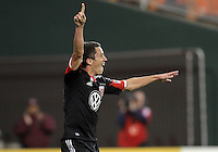 WASHINGTON, DC - OCTOBER 20, 2012:  Lewis Neal (24) of D.C United after scoring the winning goal against the Columbus Crew during an MLS match at RFK Stadium in Washington D.C. on October 20. D.C United won 3-2.