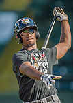20 August 2015: Tri-City ValleyCats outfielder Hector Roa awaits his turn in the batting cage prior to a game against the Vermont Lake Monsters at Centennial Field in Burlington, Vermont. The Stedler Division-leading ValleyCats defeated the Lake Monsters 5-2 in NY Penn League action. Mandatory Credit: Ed Wolfstein Photo *** RAW Image File Available ****
