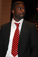 D.C. United defender Brandon McDonald,at the United Kickoff luncheon, at the Marriott hotel in Washington DC, March 5, 2012.