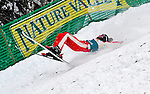 16 January 2009: Jacqui Cooper from Australia takes a spill in aerial acrobatics during the FIS Freestyle World Cup warm-ups at the Olympic Ski Jumping Facility in Lake Placid, NY, USA. Mandatory Photo Credit: Ed Wolfstein Photo. Contact: Ed Wolfstein, Burlington, Vermont, USA. Telephone 802-864-8334. e-mail: ed@wolfstein.net