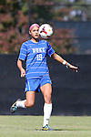27 October 2013: Duke's Kim DeCesare. The Duke University Blue Devils hosted the Pittsburgh University Panthers at Koskinen Stadium in Durham, NC in a 2013 NCAA Division I Women's Soccer match. Duke won the game 6-3.